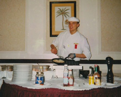 Commis de cuisine  no Hotel Marriott em Londres 2000